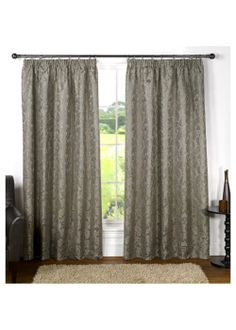 Cordelia Fully Lined Curtains - Matalan Interesting but out of my budget! Pleated Curtains, Lined Curtains, Pencil Pleat, Damask, Blinds, Luxury, Room, Budget, Rum