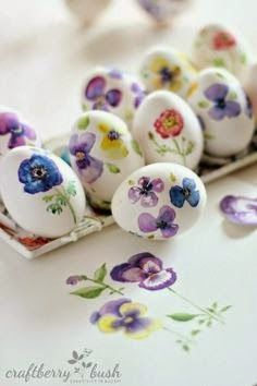 Ultimissime dall'orto: beautiful Easter eggs!