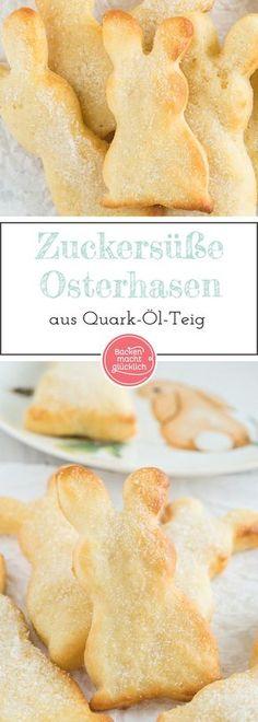 Zuckersüß und unheimlich lecker: Diese kleinen Häschen aus Quarkölteig kommen (nicht nur) zu Ostern gut an! Am besten schmecken die Quarkhasen ganz frisch gebacken.