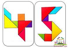 origami – tangram etkinlikleri için (3) | Evimin Altın Topu