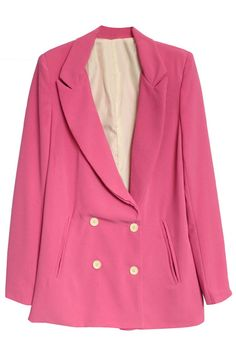 Double Breasted Rose Blazer. Description Rose Blazer, featuring lapel collar, double breasted design, subtle shoulder padding, twin pockets insert on waist, polyester lining, tailored fit and soft-touch fabric. Fabric Cotton Blends,Polyester Washing Cool hand wash with similar colours, do not tumble dry. #Romwe