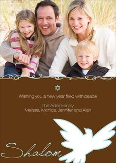 Dove of Peace Jewish New Year Photo Cards