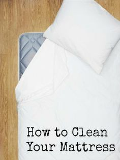 A clean bed means more than washing your sheets and pillowcases. #cleaning #mattress