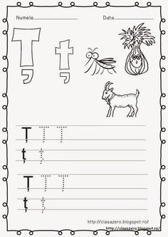 Clasa pregatitoare: Fisa de lucru litera  ţ clasa pregatitoare Little Einsteins, Algebra, Worksheets, Language, Teaching, Lily, School, Mai, Elsa