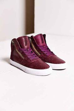 SUPRA Cracked Leather Cuttler Sneaker