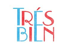 """Tres Bien"" tee design by Mary Kate McDevitt"