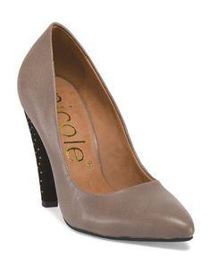 Leather Studded Heel Pump TJMaxx - 39.00