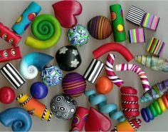 Polymer beads by Carol Blackburn