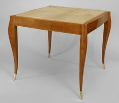 Art Moderne/1940s French table game table parchment