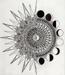Výsledek obrázku pro mandala sun moon tattoo
