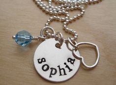 personalized name necklace / mother's jewelry  hellolovelyjewelry.etsy.com