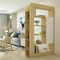 Top 40 Modern Partition Wall Ideas in 2020 Living Room Partition Design, Room Partition Designs, Living Room Divider, Room Partition Wall, Diy Furniture, Furniture Design, Regal Design, Home Interior Design, Living Room Designs