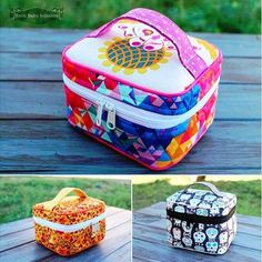 Crimson and Clover Train Cases! pattern by Sew Sweetness