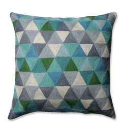 Triangle Grid Wool Throw Pillow