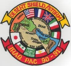 Operation Desert Storm was the UN's response to Iraq's invasion of Kuwait, Iran. They invaded because Iraq was in debt and needed oil money. Military Insignia, Military Police, Military Veterans, Military Service, Usmc, Operation Desert Shield, Military Memorabilia, Wounded Warrior Project, Green Beret