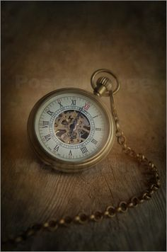 Poster Still life with old pocket watch