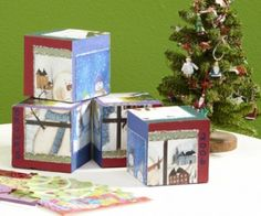 Cube Puzzle with Recycled Cards. Oh my goodness, I LOVE this idea!!