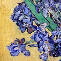 Still Life with Irises (detail) by Vincent van Gogh | Lone Quixote | #art…