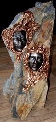 Sold Sculptures: - Fabric Art ROCKS! Sculptures by Lise Paverpol