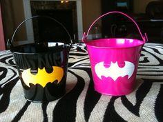 Batman/Batgirl Party Favor Buckets
