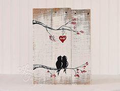 Valentines Geschenk Holz Schilder dir und von LindaFehlenGallery