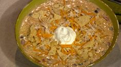 Trisha Yearwood's chicken tortilla soup! Seriously, so yummy and easy. Makes a ton!!!