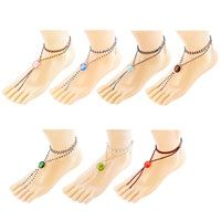 Multicolor Swarovski Element Crystals Accented With Barefoot Sandals Beach And Pool Anklets Bracelet 7  Colors Pinterest