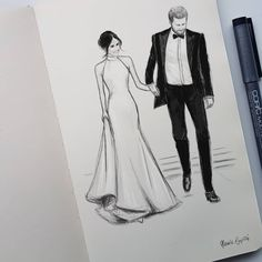 Royal Wedding of Prince Harry & Meghan Markle ❤ Amazing illustration artwork of Meghan Markle and Prince Harry leaving Windsor Castle ahead of their evening wedding reception at Frogmore House Harry And Meghan Wedding, Harry Wedding, Meghan Markle Wedding, Prince Harry And Meghan, Royal Family News, English Royal Family, British Royal Families, Royal Brides, Royal Weddings