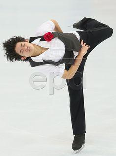 Japan's Takahiko Kozuka performs during the Men short program of the Rostelecom Cup ISU Grand Prix of Figure Skating in Moscow, Russia, 14 November 2014. EPA/SERGEI ILNITSKY