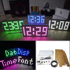 Build your own DIY led matrix temperature measuring clock #DIY #tech #led #ledcube #kit #handmade #cool #diyprojects