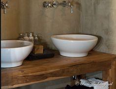 mooie kalkverf in de badkamer