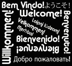 Bem-vindo em Vários Idiomas