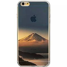 iPhone 6s ケース / iPhone 6 ケース 4.7 inches Vandot 0.5MM 超薄型ライトTPUシリコンバンパー  ハードPC半透明保護 バック ケース[落下防止] [衝撃吸収] 3D HD プリント風景シェル富士山