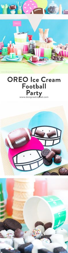 Tiny Oreo Ball Sprinkles! Such a good dessert idea for a fun, vibrant football party with yummy desserts for everyone!