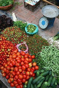 morning market in Luang Prabang, Laos.