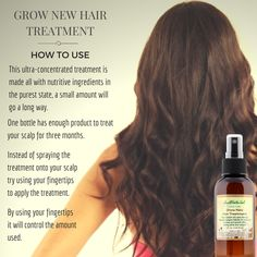 This grow new hair treatment is one of the best ways to make your hair grow faster and longer. This rejuvenating natural treatment is deeply absorbed to restore life, vitality and strength by protecting your hair from the inside out. Not only are essentia Help Hair Grow, How To Grow Your Hair Faster, Stop Hair Loss, Prevent Hair Loss, Hair Remedies For Growth, Healthy Hair Growth, Diy Hairstyles, Natural Hair Styles, Restore