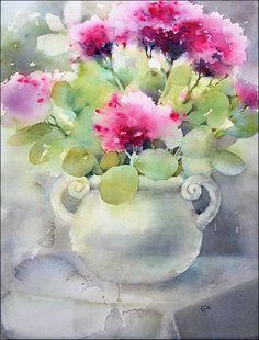 Stonecrops - Original Watercolor Painting