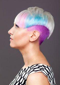 Hiukset ja meikki: Salla, Kuva: Jarno Short Hair Cuts, Short Hair Styles, Beautiful Hair Color, Rainbow Hair, Tangled, Hair Beauty, Art, Hair Style, Color