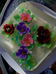 Glatina 3D de dulce de leche y coco!! :-))))