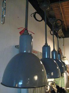 Pendule lamp grijs/blauw.Nu 199.00
