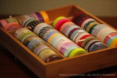 my first addiction ... well, at least it's only washi tape ... i mean, it could be worse, right? this tray photo from cute tape (tm)
