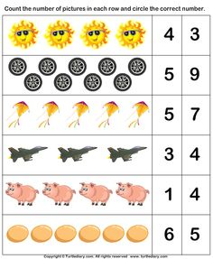 Counting Objects in the Pictures Worksheet Nursery Worksheets, Letter Worksheets For Preschool, Preschool Writing, Numbers Preschool, Kindergarten Math Worksheets, Preschool Learning Activities, Teaching Math, Montessori Math, Math For Kids