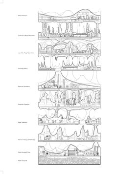 Farm tower proposed for Africa wins international skyscraper competition Conceptual Architecture, Architecture Collage, Architecture Graphics, Green Architecture, Architecture Drawings, Classical Architecture, Architecture Design, Landscape Architecture, Section Drawing