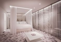 On-Off Suite – Hotel Seven (Paris, France) by Elegancia Hotels.Lit à baldaquin   2 décorations dans 1 chambre   Coin salon    Canopy bed   Two interior designs in one room   Lounge corner
