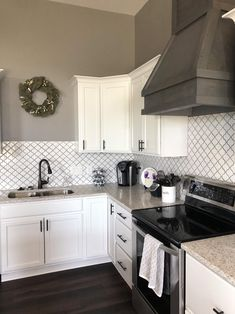 Kitchen On A Budget, Kitchen Redo, Home Decor Kitchen, Kitchen Remodel, Kitchen Ideas, Kitchen Backsplash, Taupe Kitchen, Condo Remodel, Trailer Remodel