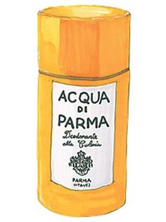 Dear Lucky, How To: Acqua di Parma Deodorant. Illustration by Lauren Friedman.