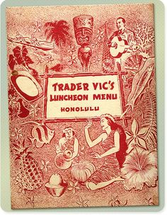 Trader Vic's Menu 1950