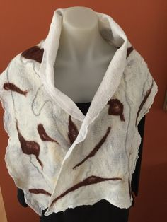 Nuno felted wool and cotton scarf by GailGrunskeDesigns on Etsy