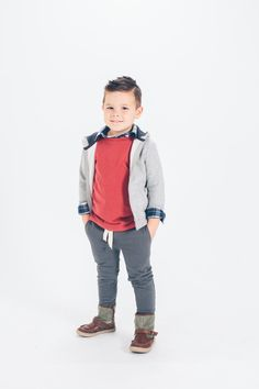 joggers are just so easy for kids. dress them up with a button-down or let them be kids in them. love love love!