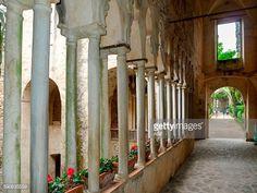 Italy. Campania. Amalfi Coast. Ravello. Villa Rufolo: the Moorish Courtyard  or Cortile Pictures | Getty Images